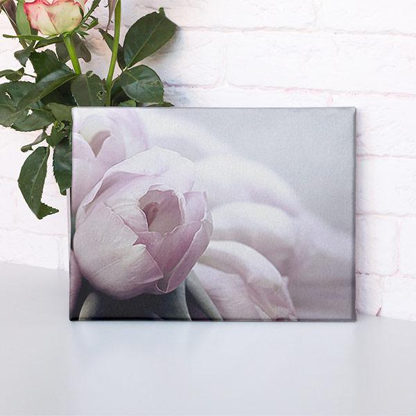 Abbildung einer Rose - gedruckt auf ein Leinwandbild