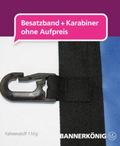 Fahne – Besatzband + Karabiner