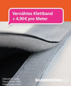 Stoffbanner/Textilbanner – Klettband