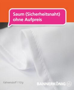 Stoffbanner/Textilbanner – Sicherheitsnaht