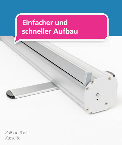 Foto der Roll-Up Basic-Display-Kassette