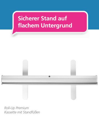 Abbildung des Roll-Up Premium – mobiler und ausziehbarer Werbeaufsteller mit solidem Standsystem