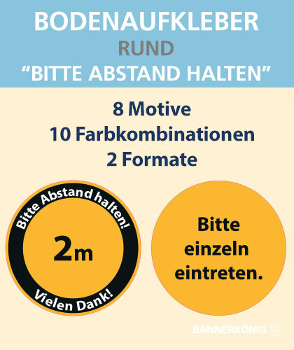 Bodenaufkleber Bodenmarkierung Bodenfolie indoor outdoor | BANNERKÖNIG