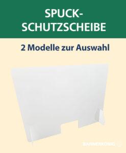 Spuck-Schutzscheibe Plexiglas | BANNERKÖNIG