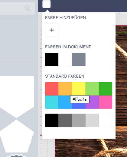 Rechteck schwarz färben und Schriftzug in den Vordergrund stellen
