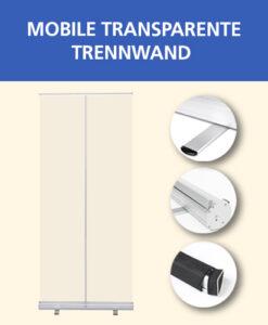 Mobile transparente Trennwand