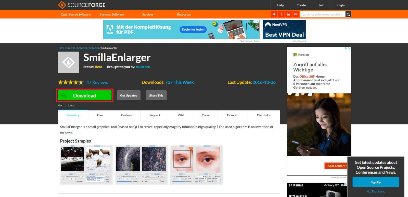 SmillaEnlarger - Download des Programms
