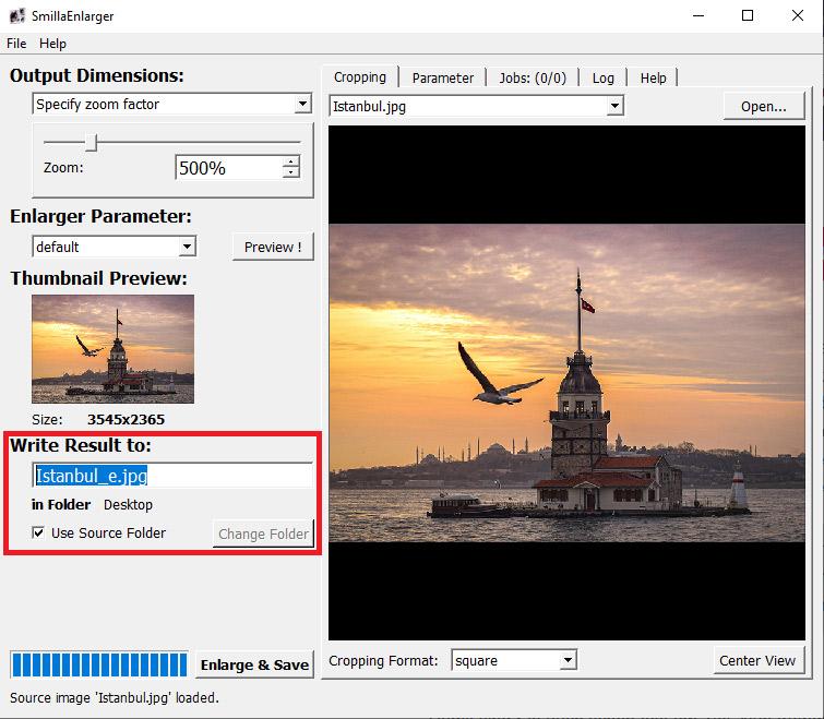 SmillaEnlarger - Datei vergrößern & speichern