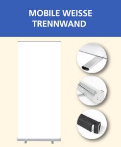 Mobile weiße Trennwand