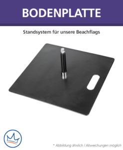 Beachflag-Zubehör – Bodenplatte