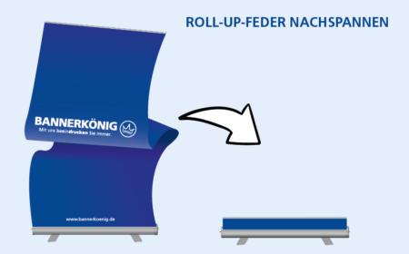 Roll-Up-Feder nachspannen