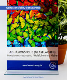 Adhäsionsfolie, transparent – Materialansicht 1