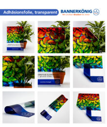 Adhäsionsfolie, transparent – Materialansicht gesamt