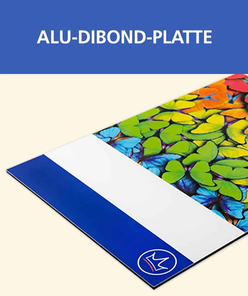 Druck von Schildern, z.B. auf Alu-Dibond-Platten
