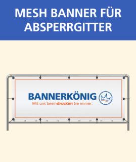 Banner für Absperrgitter Mesh