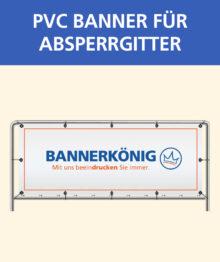 PVC Banner für Absperrgitter 215 x 73 cm
