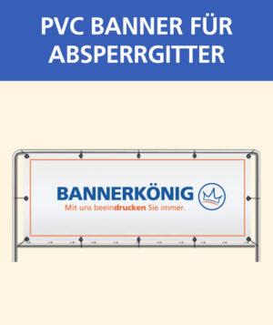 Banner für Absperrgitter PVC