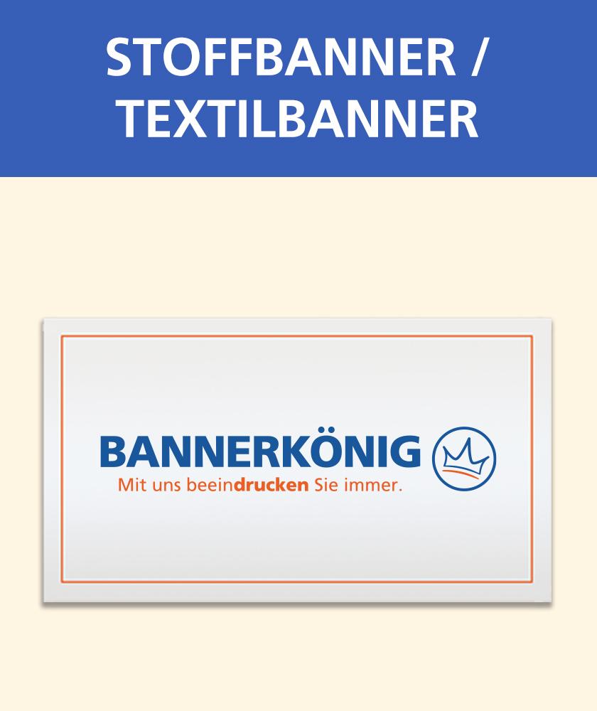 Symbolbild/Illustration eines Stoffbanners/Textilbanners