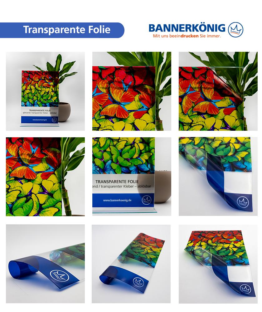 Transparente Folie bedrucken lassen   bei BANNERKÖNIG