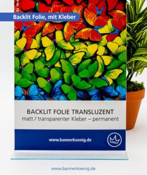 Backlit Folie, mit Kleber – Materialansicht 1