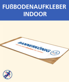 Fußbodenaufkleber (indoor)