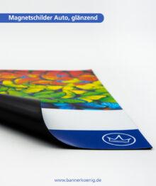 Magnetschilder Auto, glänzend – Materialansicht 2