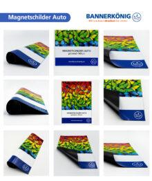 Magnetschilder Auto, glänzend – Materialansicht gesamt
