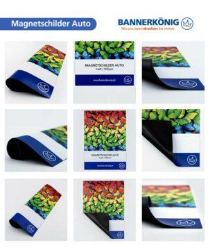 Magnetschilder Auto, matt – Materialansicht gesamt