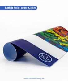 Backlit Folie, ohne Kleber – Materialansicht 1