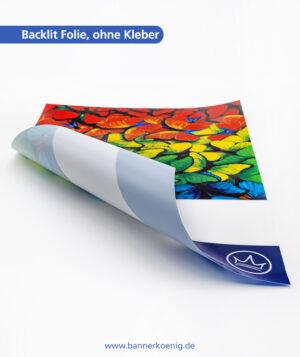 Backlit Folie, ohne Kleber – Materialansicht 2