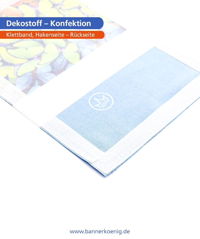 Dekostoff – Konfektion Klettband, Hakenseite, Rückseite