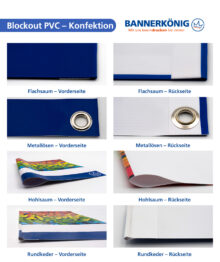 Blockout PVC – Konfektion gesamt