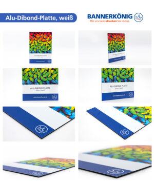 Alu-Dibond-Platte, weiß – Materialansicht gesamt
