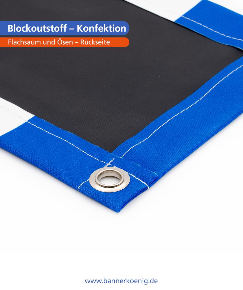 Blockoutstoff – Konfektion Ösen, Rückseite