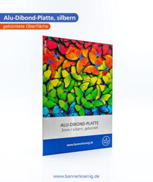 Alu-Dibond-Platte, silbern – Materialansicht 1