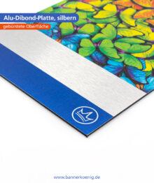 Alu-Dibond-Platte, silbern – Materialansicht 2