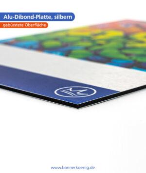 Alu-Dibond-Platte, silbern – Materialansicht 3