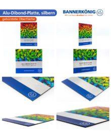 Alu-Dibond-Platte, silbern – Materialansicht gesamt